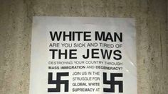 Anti-Semitic fliers were found March 2, 2017 on the Texas State University campus in San Marcos. Photo: Courtesy/May Olvera