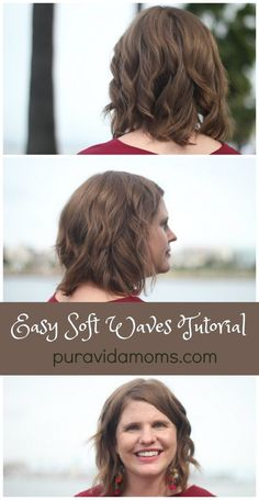 Easy soft waves hair style tutorial- look flirty and confident with this hairstyle. All you need is a flat iron and 15 minutes to transform your look!