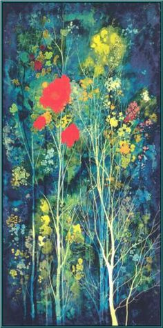 Poppies and Flowers - Eyvind Earle