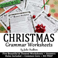 Funny childrens poem about a really long christmas wish list to christmas grammar worksheets no prep middle and high school fandeluxe Images
