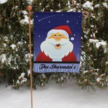 Santa Claus Personalized Christmas Garden Flags