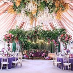 Love over the top garden theme for an Indian wedding event