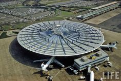 Pan Am Worldport. Vintage Photograph of Idlewild Airport, 1961. The mammoth facility now known as John F. Kennedy International Airport (JFK) was once known as Idlewild Airport.