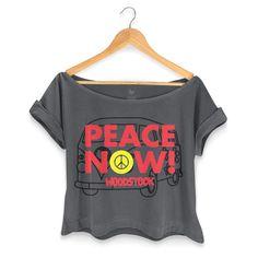T-shirt Premium Feminina Woodstock Peace Now #woodstock