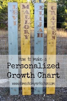 Tutorial on making personalized rustic growth charts. Looks easy enough and only costs about $10 each.