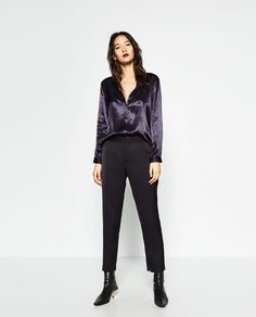 Image 1 of SATEEN BLOUSE WITH BACK DETAIL from Zara