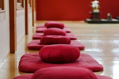 Vipassana. When learning vipassana, people often go on a ten day retreat. There are about ten hours of meditation throughout the day, interspersed with regular breaks and rest periods