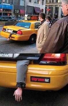 Sopranos TV series guerrilla advertising