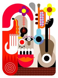 Music Festival Placard - abstract vector illustration. — Designspiration