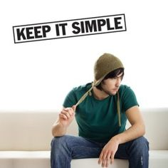 The wall Decal Keep It Simple vinyl typography will be there to remind you of the right approach to business, life, relationships and room decor Office Wall Decals, Modern Wall Decals, Dorm Room Walls, Cool Dorm Rooms, Cool Wall Art, Wall Art Decor, Back To School Special, Famous Inspirational Quotes, Keep It Simple