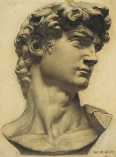 by Yu Hong. 1984 Wow This is an Excellent Drawing of The Statue Of David By he Artists Michelangelo Roman Sculpture, Art Sculpture, Realistic Drawings, Art Drawings Sketches, Mythos Academy, Sculpture Romaine, Art Du Croquis, Greek Statues, Italian Statues