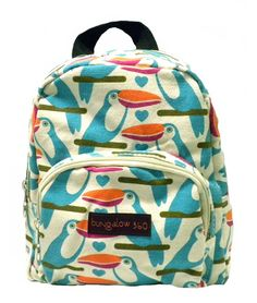 Bungalow360 Vegan Cotton Canvas Mini Back Pack-Toucan >>> You can find out more details at the link of the image.