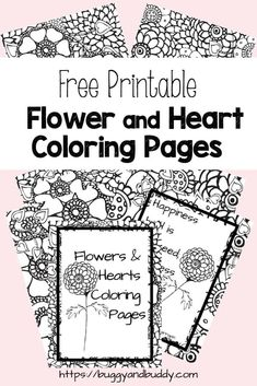 Print out these free printable flower and heart coloring pages, perfect for older kids, tweens, teens and adults who love to color! You'll find five intricate designs made up of flowers and… More