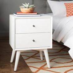nightstand - all modern White Nightstand, 2 Drawer Nightstand, Bedroom Furniture, Bedroom Decor, Modern Furniture, Budget Bedroom, Furniture Market, Bedroom Ideas, Modern Retro