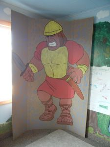 Make an almost-accurately-sized Goliath for your Sunday School classroom