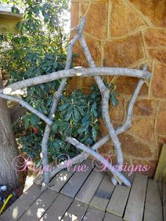 The giant Texas star from tree limbs! lots of other projects too!