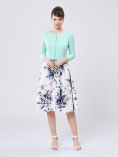 Chessie 3/4 Sleeve Cardi & Love Ballad Skirt