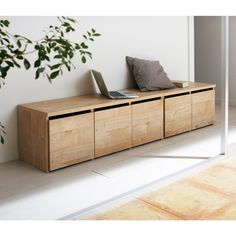 Modern sofa and furniture ideas for your home or office Casa Muji, Muji Haus, Living Room Storage, Interior Design Living Room, Wood Furniture, Furniture Design, Furniture Ideas, Furniture Inspiration, Home And Living