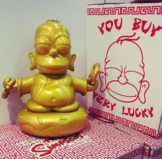 Super Punch: Homer Buddha by Kidrobot