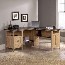 LShaped Desk with Side Storage Multiple Finishes Desks