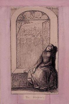 Dante Gabriel Rossetti illustrates Edgar Allan Poe's The Sleeper