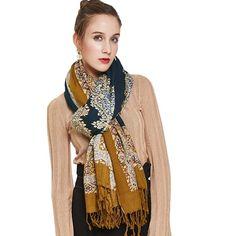 3682b65899626 DANA XU 100% Pure Wool Women Winter Large Size Pashmina Travel Shawl