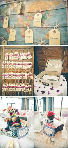 key table plan, travel wedding, image by Andrea Ellison Photography Hotel Wedding, Wedding Table, Our Wedding, Wedding Ideas, Garden Wedding, Best Wedding Quotes, Living At Home, Centre Pieces, Travel Themes