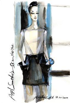 Fashion Illustration by Mengjie Di