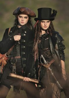 Steampunk Pirates. Nina and Randa are two girls looking for fame through singing. Their steampunk picctures are fun for idea's though.