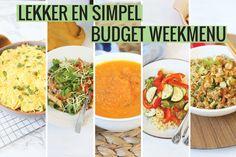 Tasty and Simple budget weekmenu - Tasty and Simple - Weekmenu recepten Gourmet Recipes, Healthy Dinner Recipes, Vegetarian Recipes, Dinner On A Budget, Budget Meals, Budget Recipes, Budget Cooking, Food Videos, Food Print