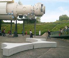 guyon banc béton Toulouse Folia Cité de l espace (2) France, Toulouse, Concrete, Stylish, Design, Architecture, Street Furniture, Outer Space