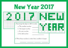 A fun way to welcome in the New Year with reflection, area and number activities.