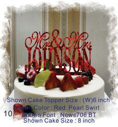 Wedding  Cake Topper  Monogram Cake Topper Mr and Mrs  With Your Last (Family)Name  - Handmade Custom Wedding Cake Topper