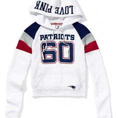 PINK loves the NFL! New England Pats hoodie! I want it sooo badly:( wah!! Victoria secret needs to open in London Ontario!