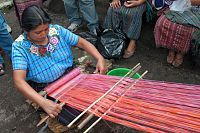 Weaving on the backstrap loom  www.mayanhands.org