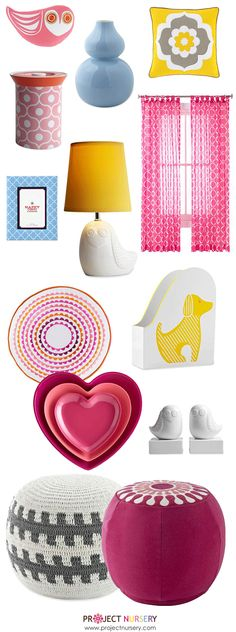 Jonathan Adler's new Happy Chic Collection at JCPenney has so many pieces that would look great in a girl nursery