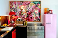 Colorful Kitchen designed by German-French interior designer Josephine Gintzburger