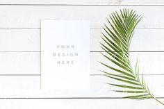 Palm Leaf Vertical Card Mockup