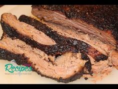 Here's a great recipe for slow cooker beef brisket that has a great crispy bark. This slow cooker beef is tender because it's cooked low and slow in a crockpot. Check out the video for more details and the recipe card for step by step instructions. Slow Cooker Brisket, Beef Brisket Recipes, Beef Brisket Crock Pot, Bbq Beef, Bbq Grill, I Heart Recipes, Great Recipes, Favorite Recipes, Slow Cooker Recipes