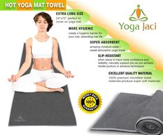 Amazon.com : Bikram Hot Yoga Mat Towel for Skidless Non Slip Non Skid When Damp to Improve Grip from Yoga Jaci. Ultra Super Absorbent, Protect Mat. Best for Bikram, Ashtanga Vinyaga, Pilates, Fitness, Exercise, Sports. Order Now To Enhance Your Yoga Posture! : Sports & Outdoors