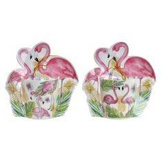 Porcelán bögre díszdobozban Flamingós Sugar Bowl, Bowl Set