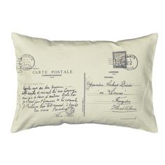 @Overstock - Postcard Letter Small Bolster Decorative Pillow - Add this beautiful pillow to any room for a fun accent. This Pillow features a decorative postcard print and knife-edge design.   http://www.overstock.com/Home-Garden/Postcard-Letter-Small-Bolster-Decorative-Pillow/8021742/product.html?CID=214117 $44.49