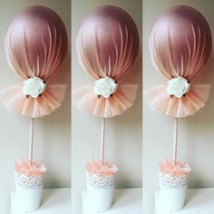 Balloons with tulle