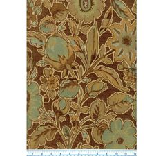 Jeffrey Chocolate - Floral - Fabric -The Fabric Mill