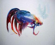 BETTA FISH Tattoo idea by Tiedeman | Cool Tattoo Designs | Cool Tattoos