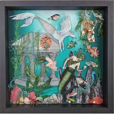 Artfully Musing: ATLANTIS - Mermen & Mermaids with a Steampunk Twist - New Collage Sheet & Digi Set