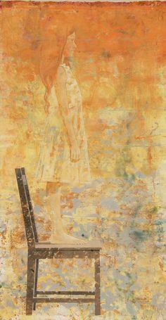 Luna 9 Size:193 x 97 cm Year:2008 Tecnic:Watercolors, tempera, pigments, color pencils, grafite on watercolor paper of 300 gr. Obs:EastHampton NY.
