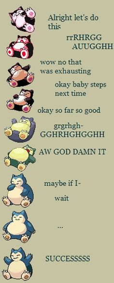 Evolution of Snorlax. Pokemon. Catch em all!!