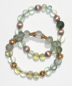 Ancient Roman glass (over 2000 years old) 24K gold/sterling silver beads 24K vermeil bead bracelets