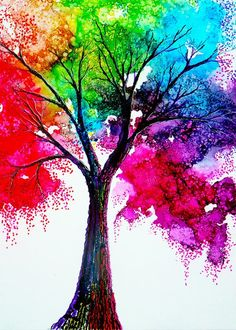 19 Fun And Easy Painting Ideas For Kids Tree Art Diy Art So Cool Rainbow Swirled Sun Colorful Tree Painting Easy Beginner 125 Easy Acrylic Painting Ideas For Beginners To…Read more of Colorful Painting Ideas Art Diy, Diy Art Projects, Project Ideas, Inspiration Art, Melting Crayons, Oeuvre D'art, Bunt, Amazing Art, Amazing Things